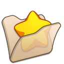 Folder beige favourite icon