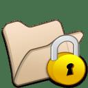 Folder beige locked icon