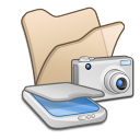 Folder-beige-scanners-cameras icon
