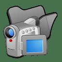 Folder black videos icon
