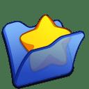 Folder-blue-favourite icon