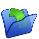 Folder blue parent icon