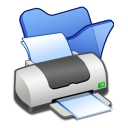 Folder blue printer icon