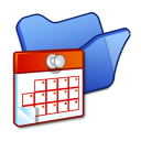 Folder blue scheduled tasks icon