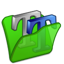 Folder-green-font2 icon