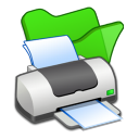 Folder green printer icon