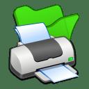 Folder green printer icon