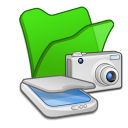 Folder green scanners cameras icon