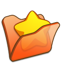 Folder orange favourite icon