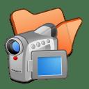 Folder orange videos icon