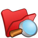 Folder red explorer icon