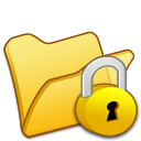 Folder yellow locked icon