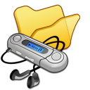 Folder yellow mymusic icon
