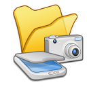 Folder yellow scanners cameras icon