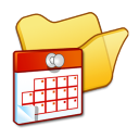 Folder yellow scheduled tasks icon