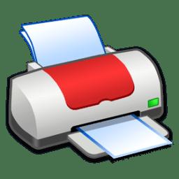 Hardware Printer Red icon