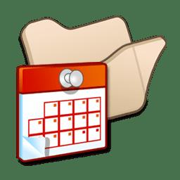 Folder beige scheduled tasks icon