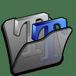 Folder black font2 icon