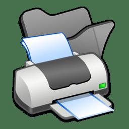 Folder black printer icon