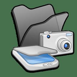 Folder black scanners cameras icon