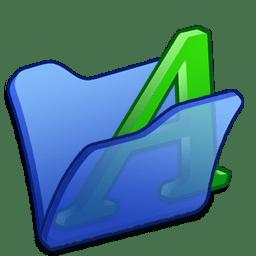 Folder blue font1 icon