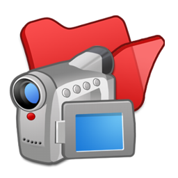 Folder red videos icon