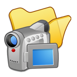 Folder yellow videos icon