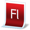 Document adobe flash icon
