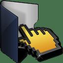 Folder blue click icon