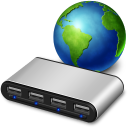 Network usb hub icon