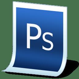 Document adobe photoshop icon