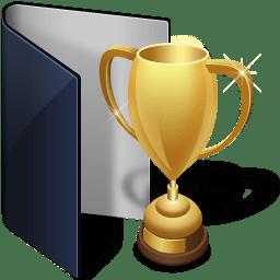 Folder Blue Award Icon Junior Iconset Treetog Artwork