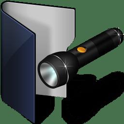 Folder blue pocket lamp icon
