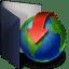 Folder-blue-download icon