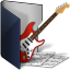 Folder-blue-music icon