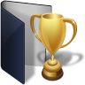 Folder-blue-award icon