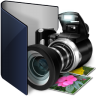 Folder-blue-pictures icon