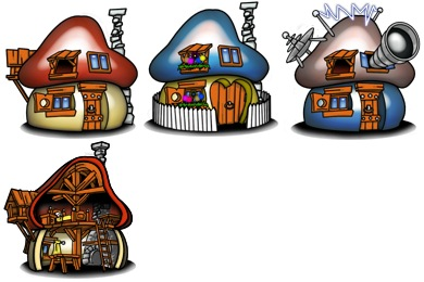 Smurf Houses Icons