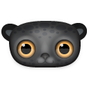 Black leopard icon
