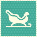 Snow sleigh icon