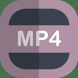 Mp4 Icon Free Flat File Type Iconset Uiconstock