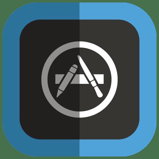 App Store Icon | Folded Social Media Iconset | uiconstock
