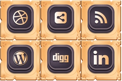 Gamy Vintage Social Icons