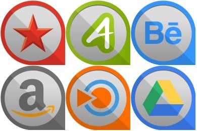 Round Edge Social Icons