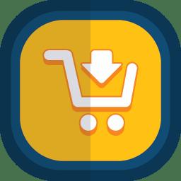 Shoppingcart 03 arrow down icon
