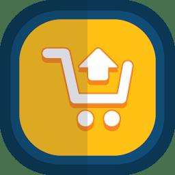Shoppingcart 04 arrow up icon