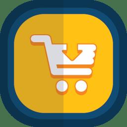 Shoppingcart 06 arrow down icon