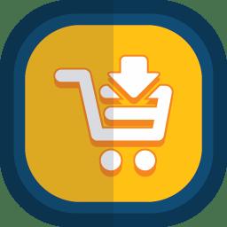 Shoppingcart 09 arrow down icon