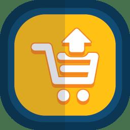 Shoppingcart 10 arrow up icon