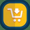 Shoppingcart-03-arrow-down icon